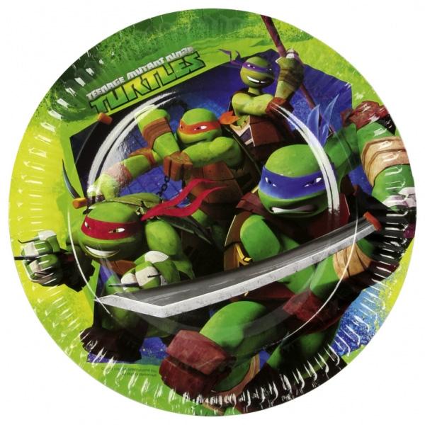 8 Assiettes 18 Cm Tortues Ninja™