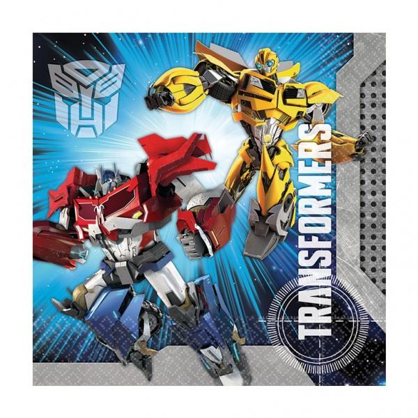 20 serviettes thème Transformers