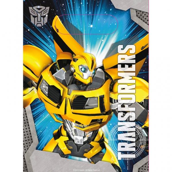 6 sacs cadeaux thème Transformers