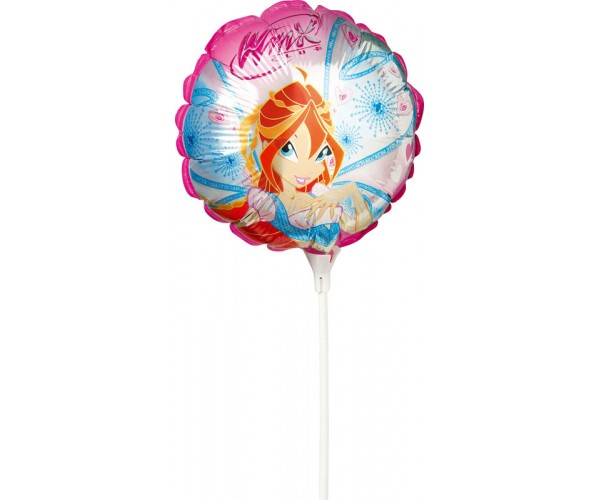 Ballon Winx 25 cm sur tige