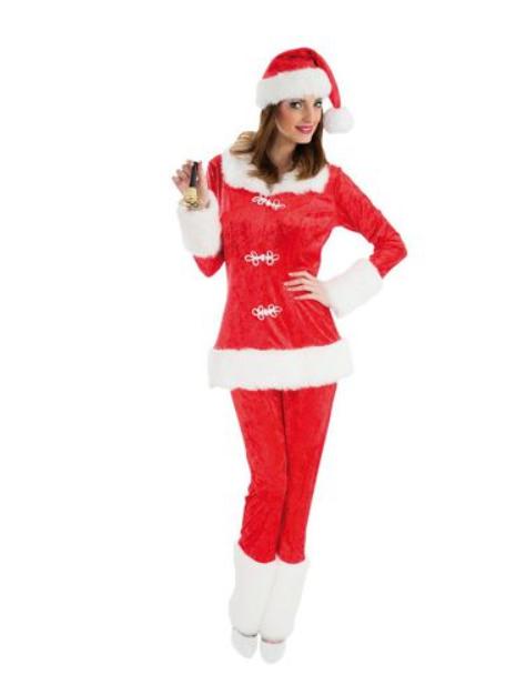 Déguisement de mère Noel avec pantalon