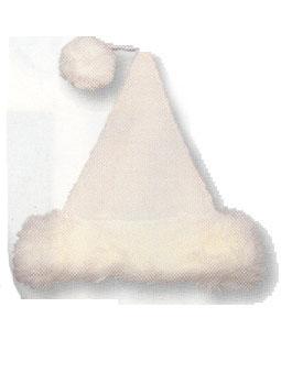 Bonnet de Noël En Fourrure Blanche
