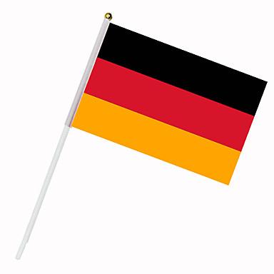 Drapeau de l\'Allemagne sur tige