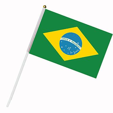 Drapeau du Brésil sur tige