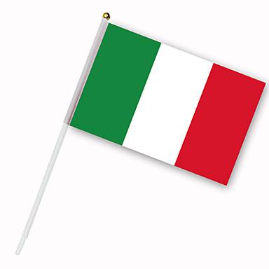 Drapeau de l\'Italie sur tige