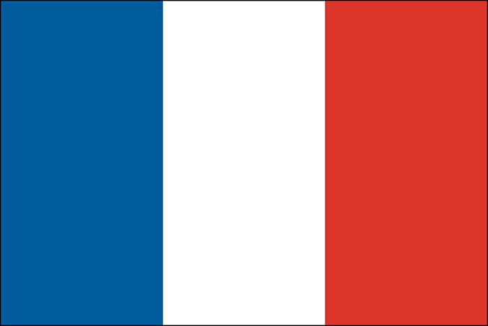 Drapeau de la France en tissu