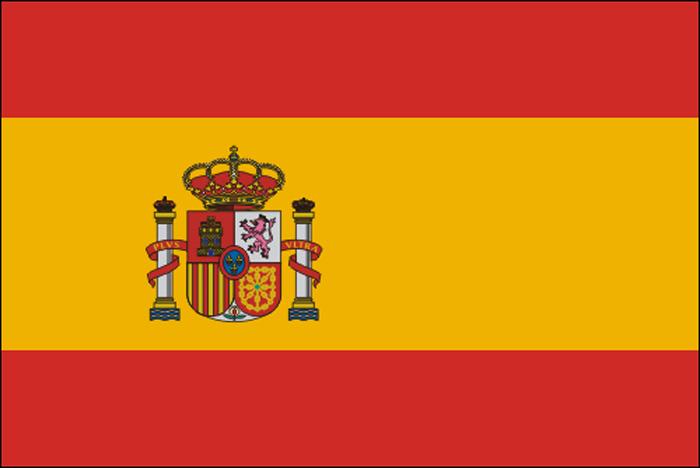 Drapeau de l\'Espagne en tissu