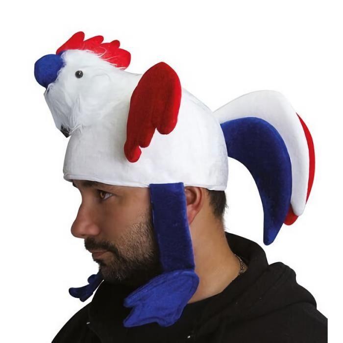 Chapeau coq tricolore France