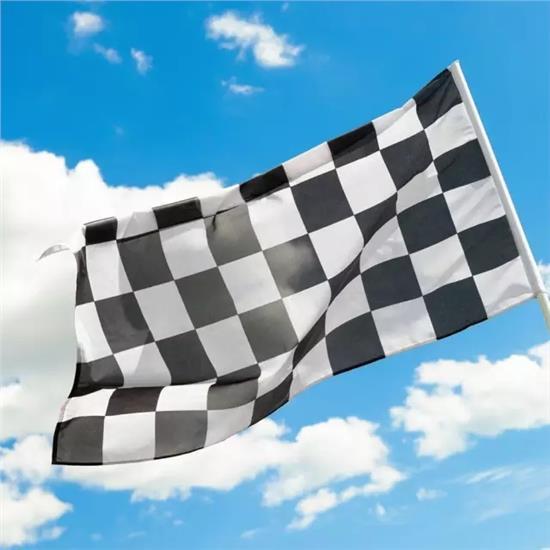 Drapeau à damiers noir et blanc F1
