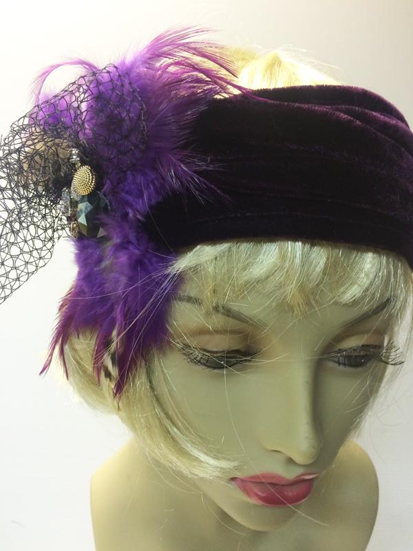 Bandeau charleston violet