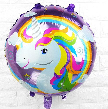 Ballon mylar licorne mauve