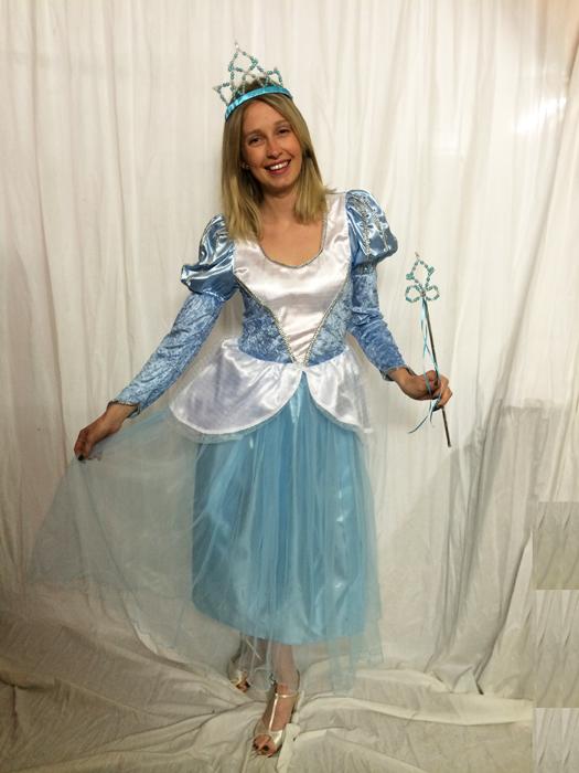 Déguisement de princesse bleue Cendrillon