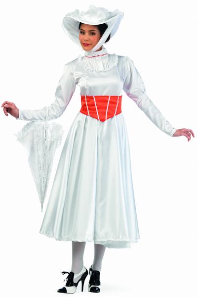 Déguisement Marie Poppins Blanc