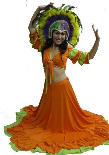 Costume de Danseuse Brésilienne Orange