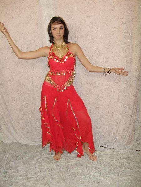 Costume de Danse Orientale Avec Bracelets