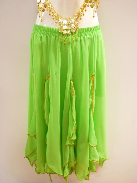 Jupe Bollywood vert anis