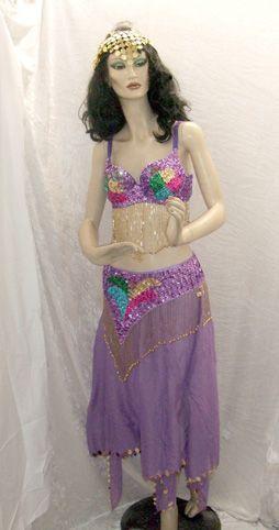 Costume de Danseuse Orientale Parme