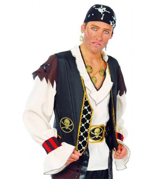 Gilet de pirate et ceinture