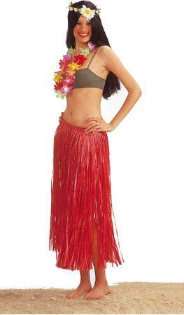 Jupe Hawaïenne 80 cm Rouge