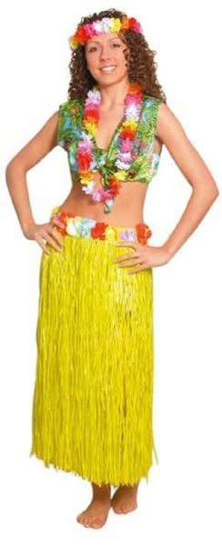 Jupe Hawaïenne 80 cm Jaune