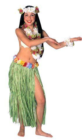 Jupe Hawaïenne 80 cm Verte