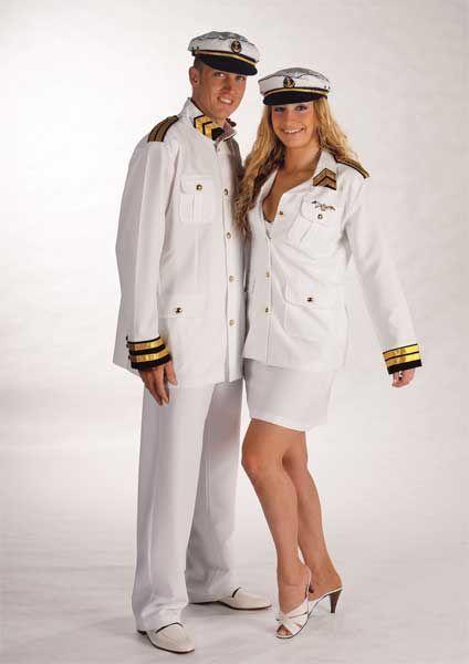 Déguisement Capitaine de Marine Blanc (Homme)