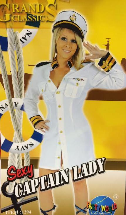 Déguisement de Capitaine de Marine Femme