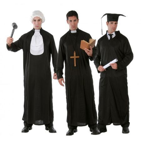 Déguisement 3 En 1 Étudiant Juge Prêtre