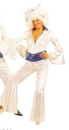 Combinaison Disco Blanche Femme ABBA