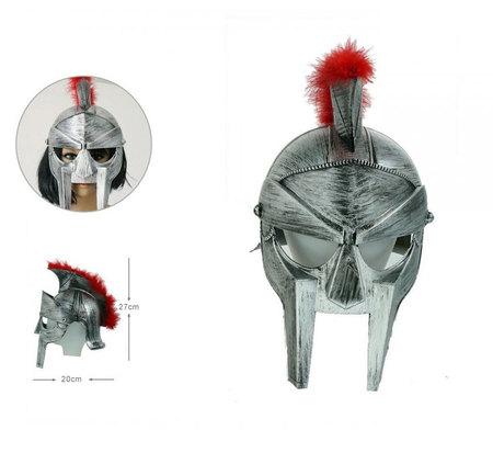 Casque de gladiateur argent vieilli