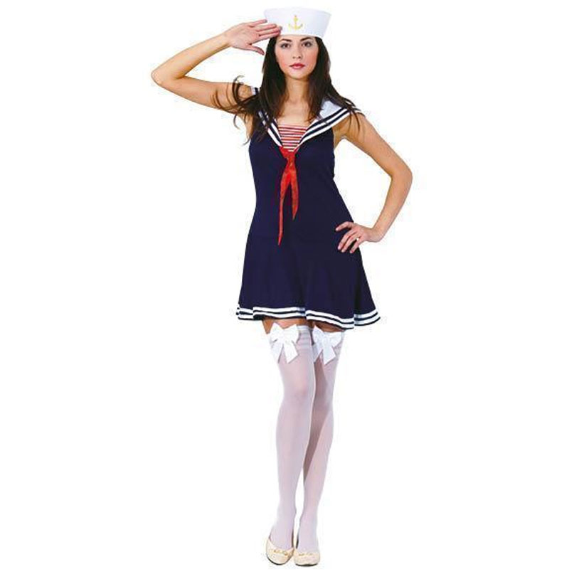 Déguisement marin femme bleue