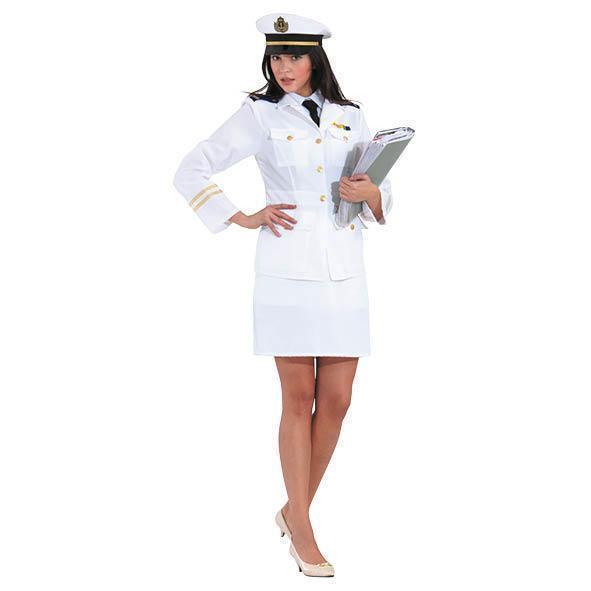 déguisement blanc officier de marine femme