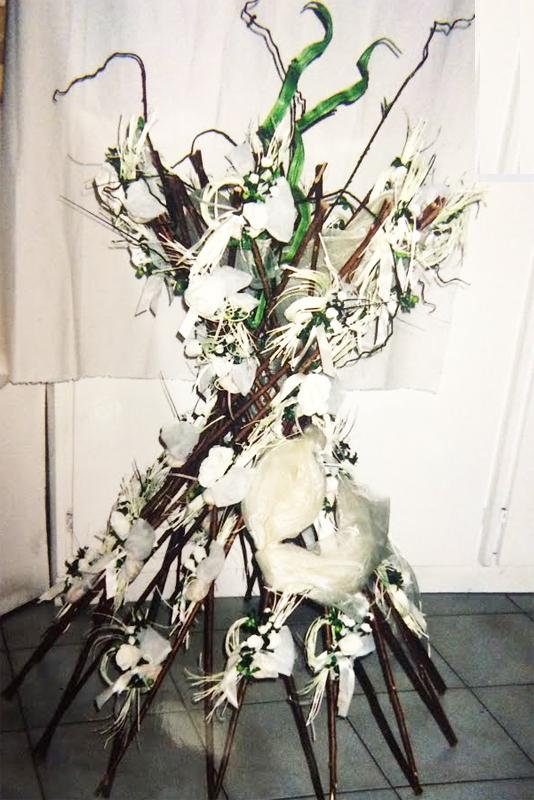 Composition de dragées sur branches