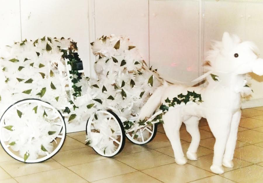 Composition de dragées poney blanc