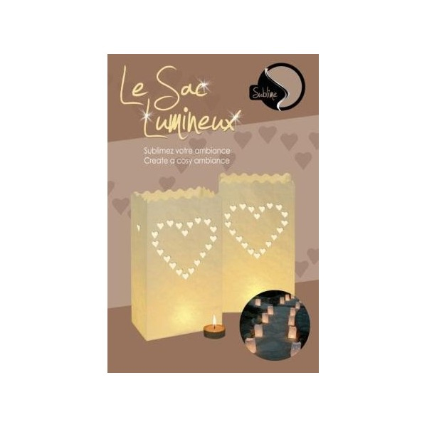 8 sac lumineux coeurs