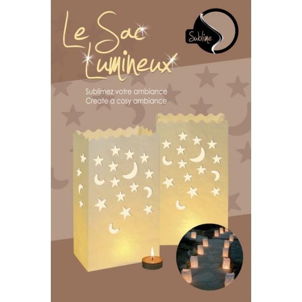 8 sacs lumineux  étoiles