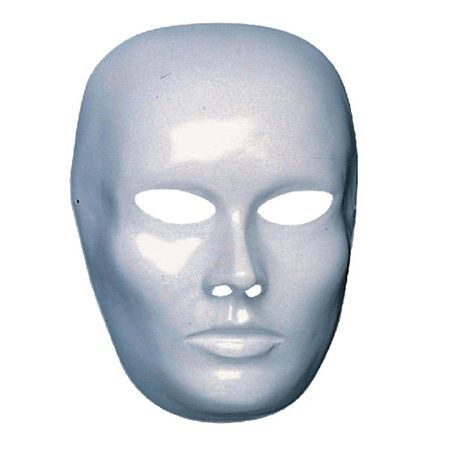 Masque Blanc En Plastique