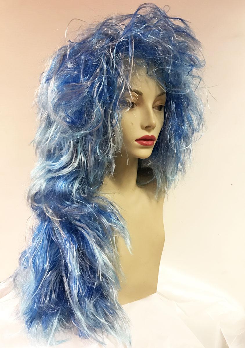 Perruque sirène bleue