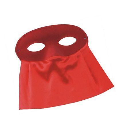 Loup Vénitien Rouge Avec Voilette En Satin