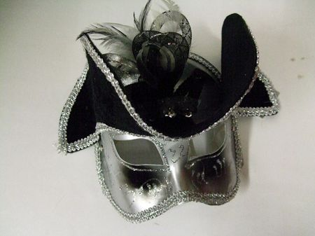 demi Masque Vénitien Avec Chapeau