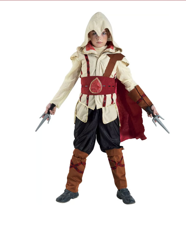 Déguisement assassin creed enfant rouge