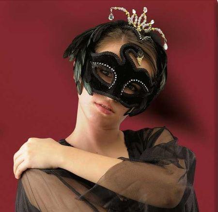 MASQUE vénitien cygne noir