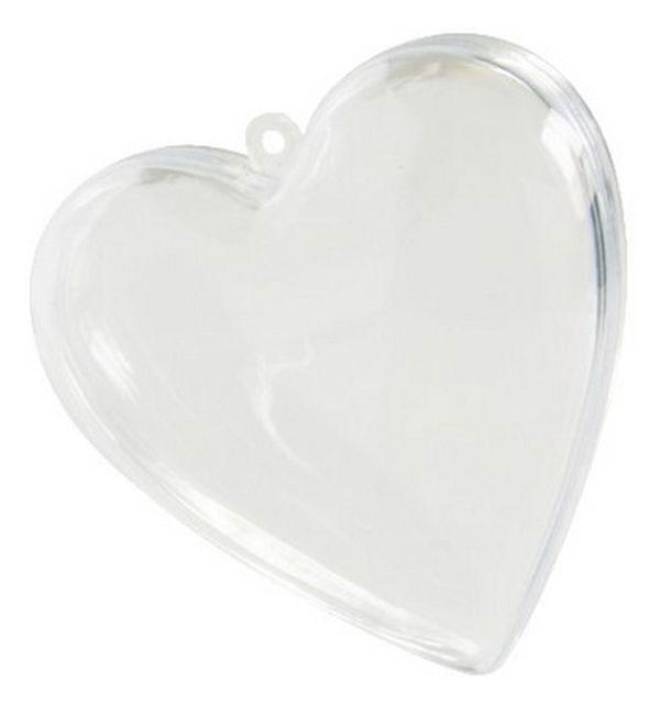 4 Coeurs en plastique pour dragées