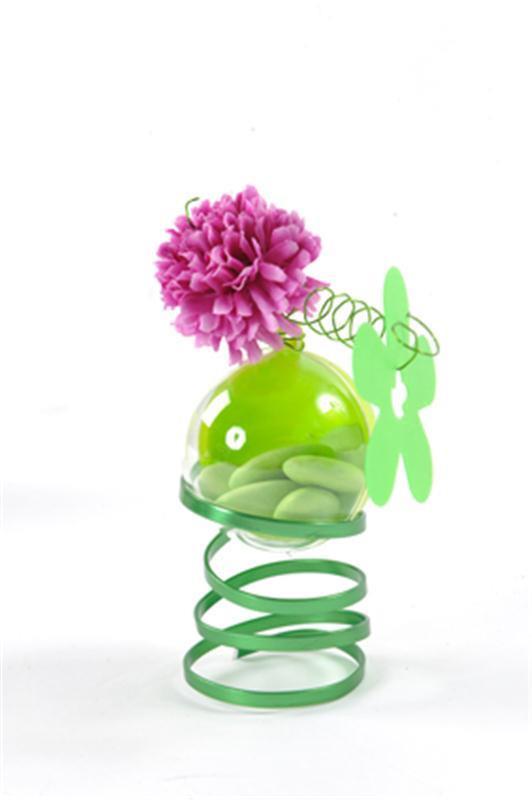 10 Boules à drageés en plexi vert anis