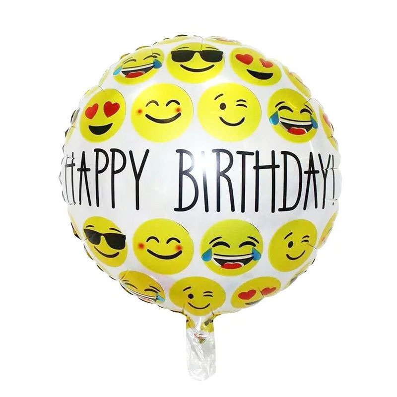 Ballon mylar smiley