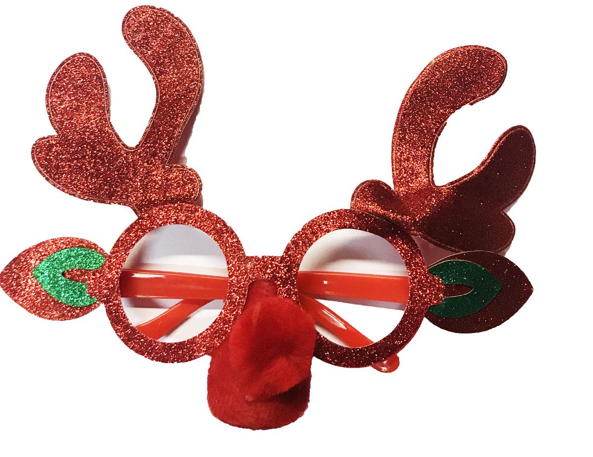 Lunettes de Noel renne rouge