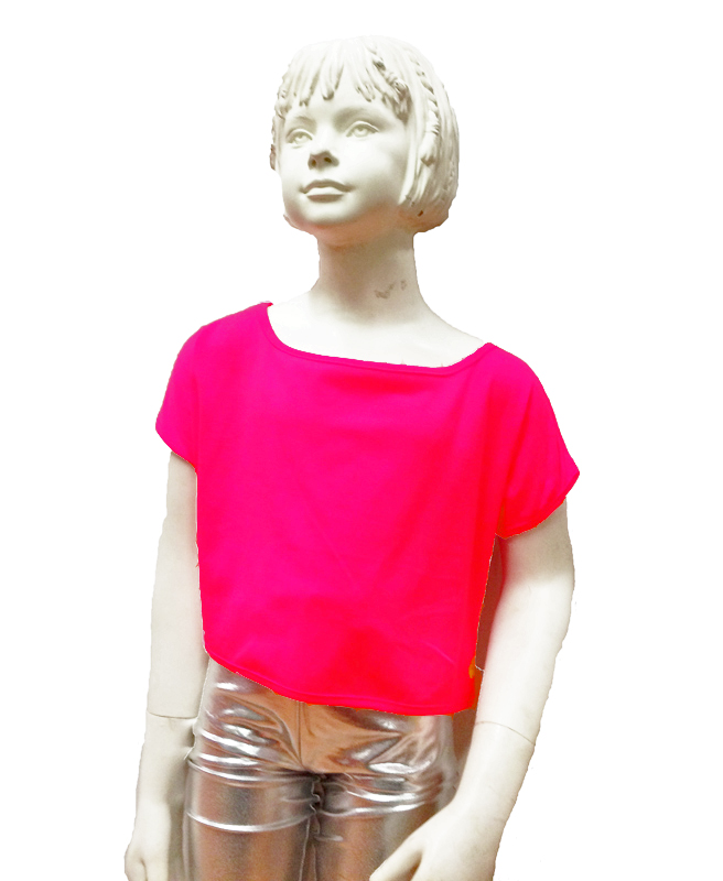top-enfant-rose-fluo-z