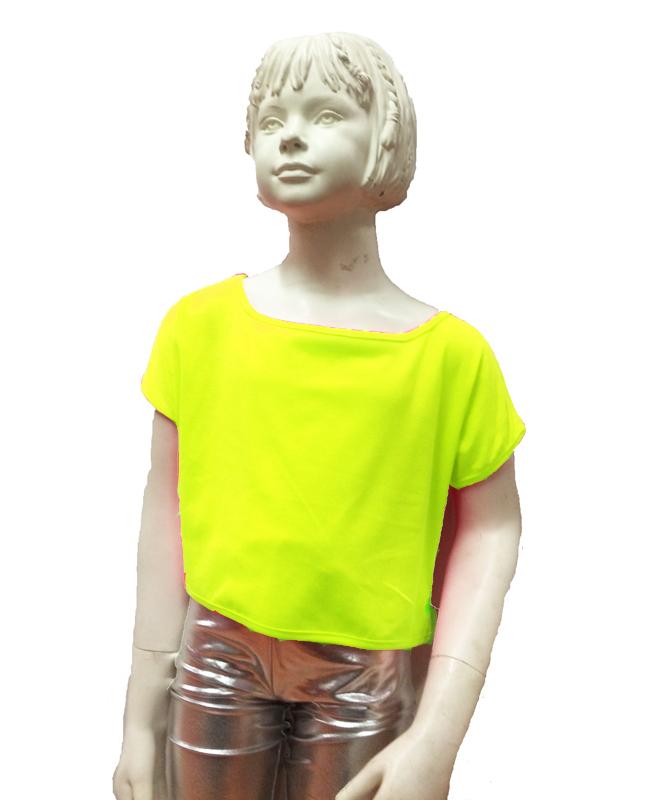 Brassière jazz enfant jaune fluo
