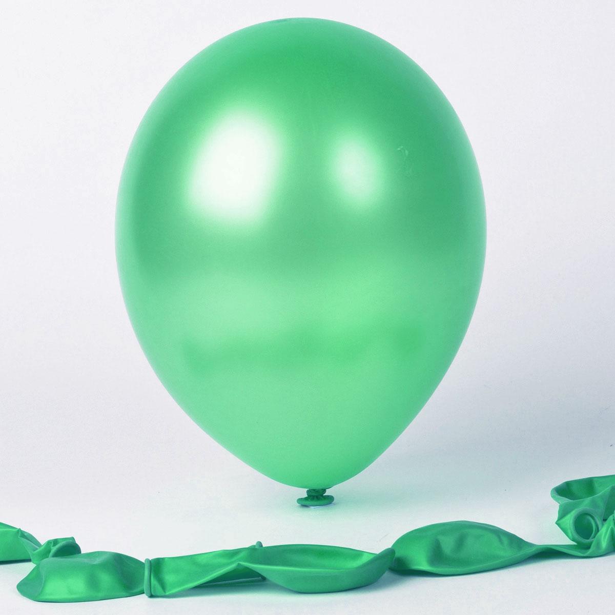 50 ballons métallisés vert d\'eau