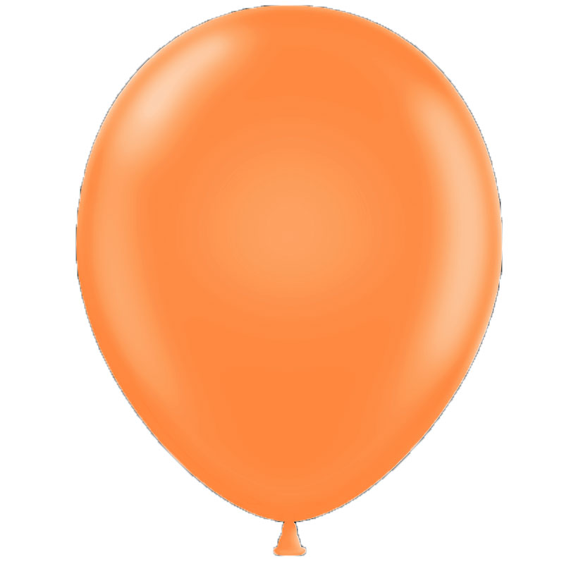 50 ballons latex oranges